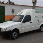 Veículo para transporte de Resíduo de Serviço de Saúde (RSS).