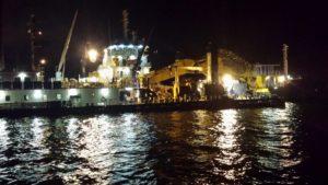 Retirada de Efluente de Embarcação.